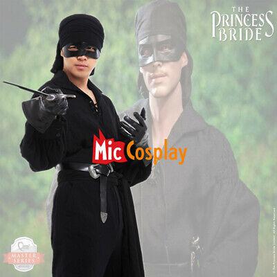 Mens Bride Costume (Adult Men's Princess Bride Westley Costume Dread Pirate Roberts Costume Black)
