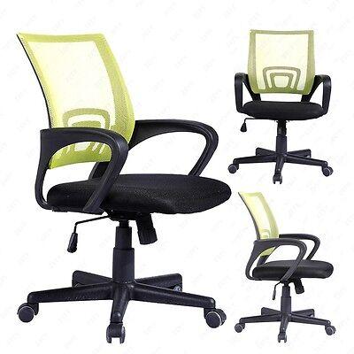 Ergonomic Executive Swivel Mesh Office Chair Mid-back Computer Desk Task Green