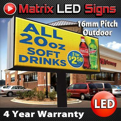 Led Sign Outdoor Full Color 1 Sided Programmable Message Display Digital Sign
