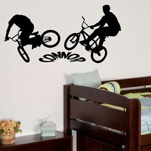 PERSONALISED-BMX-BIKE-LARGE-CHILDRENS-BEDROOM-WALL-MURAL-STICKER-GRAPHIC-VINYL