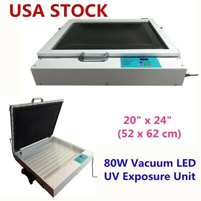 Us-20 X 24 80w Vacuum Led Uv Exposure Unit Precise Silk Screen Printing
