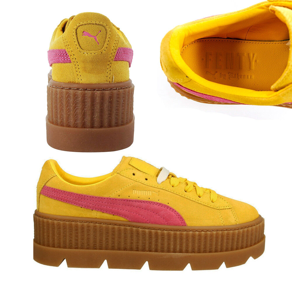 cheap for discount 6e852 c6193 Details about Puma Fenty By Rihanna Cleated Creeper Lace Up Suede Womens  Trainers 366268 Q5CD