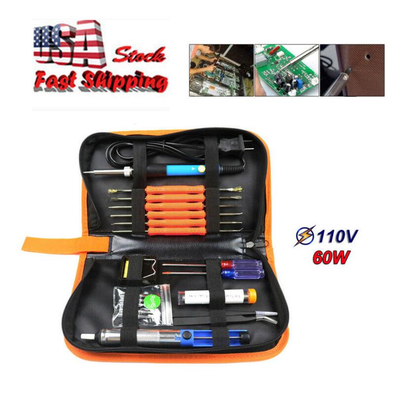Sywon Full Set 60W 110V Electric Soldering Iron Kit with Adj