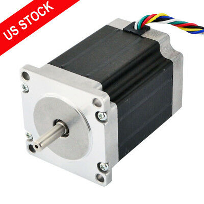 Dual Shaft Nema 23 Stepper Motor 1.8deg 1.35nm 191.2oz.in 3a Cnc Reprap Robot