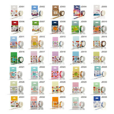 DIY Self Adhesive Cartoon Washi Masking Tape Sticker Craft Scrapbooking Sticker