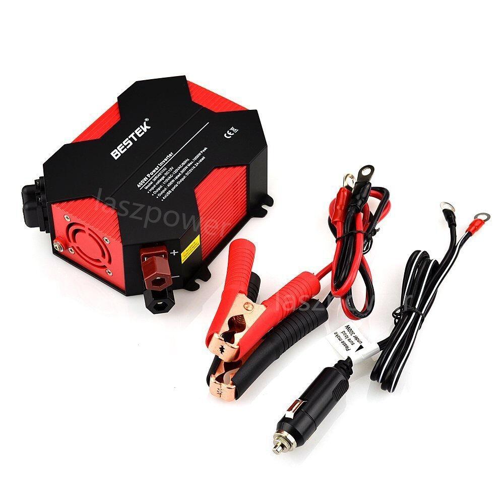Bestek 400w/1000 Watt Power Inverter Dc 12v Ac 110v Car C...