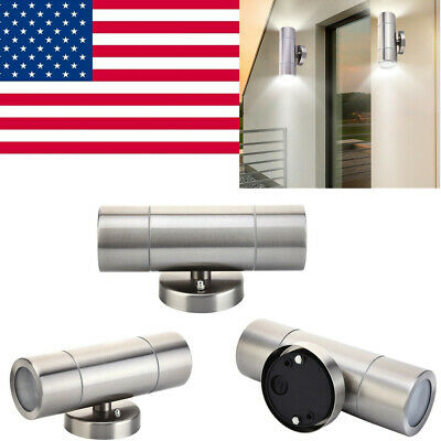 - Stainless Steel Waterproof Outdoor Wall Light Fixtures Up Down LED Sconce Lamp