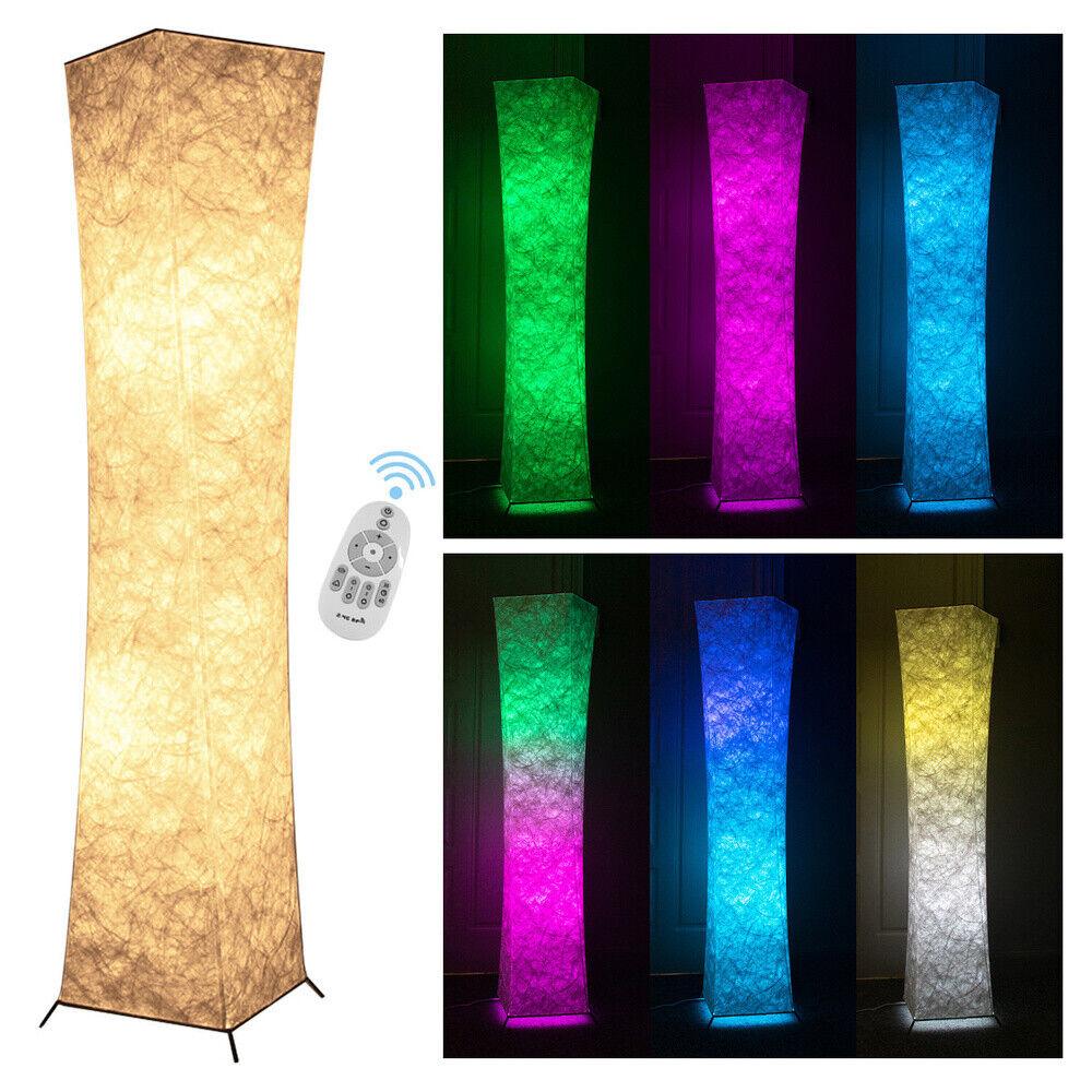 "Modern LED Standing 52"" Floor Lamp RGB Color Changing Lanter"