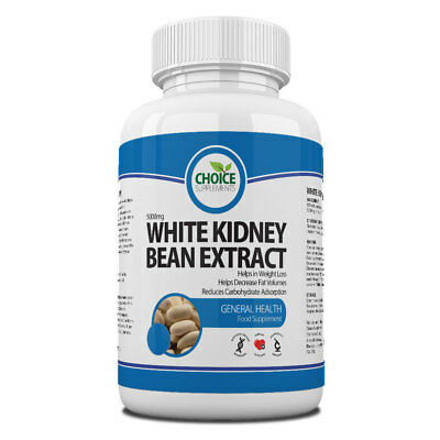 White Kidney Bean Extract 5000mg Carb Blocker Weight Loss Diet Pills