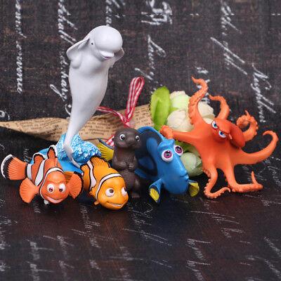 Finding Nemo Marlin Dory 6 PCS Finding Nemo Fish Gift Cake Topper Figure Toys US - Finding Nemo Cake Topper