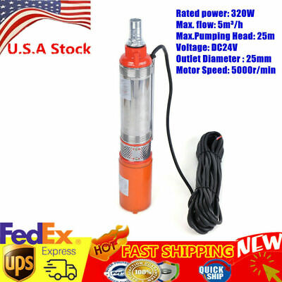 Dc24v Electric Solar Water Pump Submersible Bore Hole Deep Well 5mh Watering