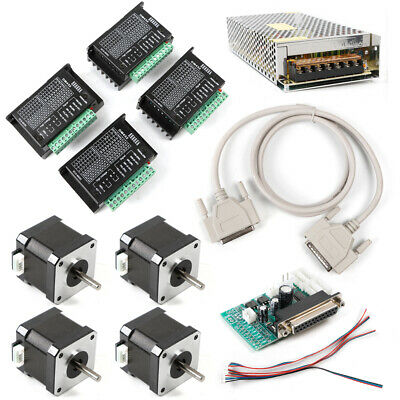 Cnc Kit 4 Axis Breakout Board Nema17 Stepper Motor For Diy Routermillplasma