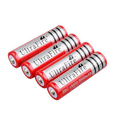 New Arrival 4PCS 18650 3000mAh 3.7v Rechargeable Battery For LED Flashlight USA