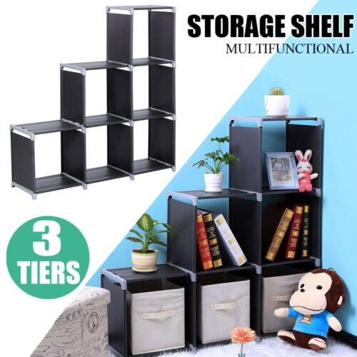 USA Storage 6Cube Organizer Bookcase Display Book Shelves Cl