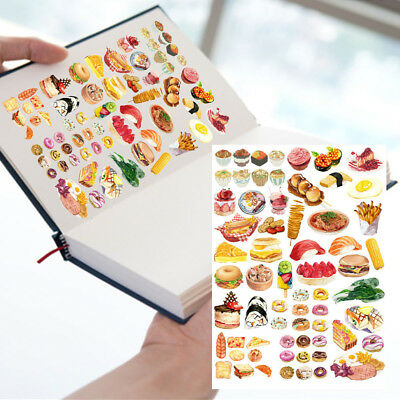 (22Color Food Self-adhesive Craft Scrapbook Stickers Diary DIY Decorative Gift)