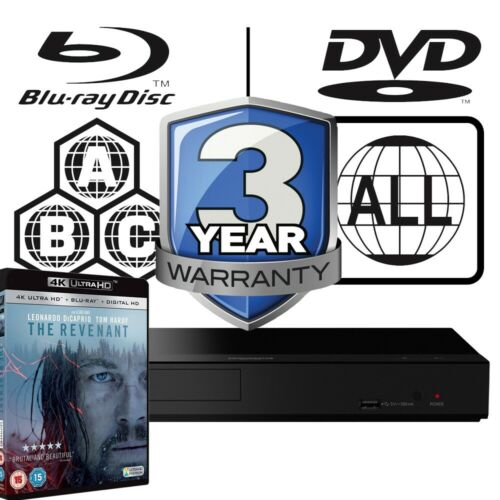 Details about Panasonic DP-UB150 All Zone Code Free MultiRegion 4K Player &  The Revenant UHD