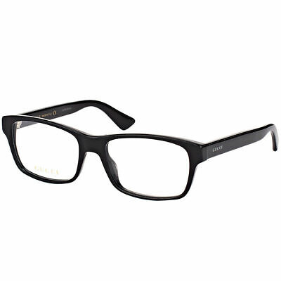 cb7cb10c4b Gucci Men s Eyeglasses GG0006O GG 0006 001 Black Transparent
