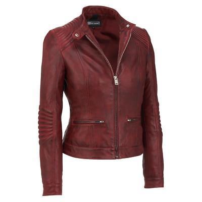 Black Rivet Womens Stitch Shoulder Lamb Jacket W Nipped Waist