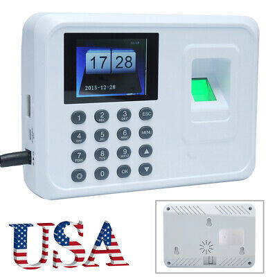 1x 2.4-inch Tft Attendance Machine Biometric Fingerprint Time Clock Reader C6i4