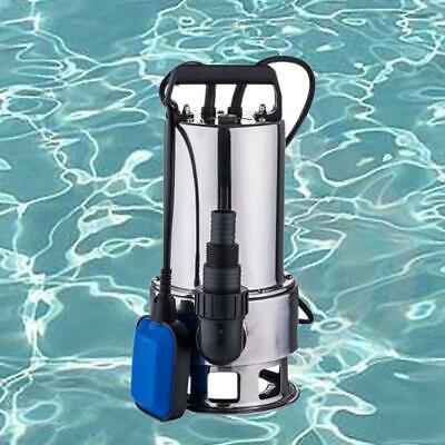 Sewage Pump 1.5hp 4300gph Pool Pond Flood Submersible Water Pump Stainless Steel