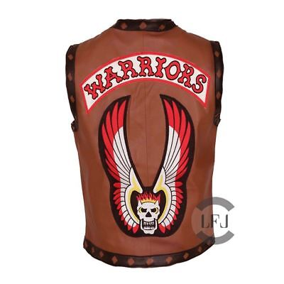 Ajax James Remar The Warriors Movie Leather Biker Vest Halloween Costume - BNWT