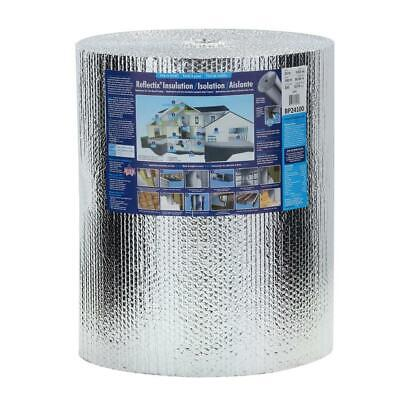 Double Reflective Insulation Roll 24 X 100 Ft Wall Heat Barrier Protection Pack
