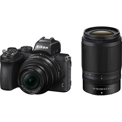 Nikon Z50 DX Mirrorless Camera w/ NIKKOR Z DX 16-50mm & 50-250mm VR Lens