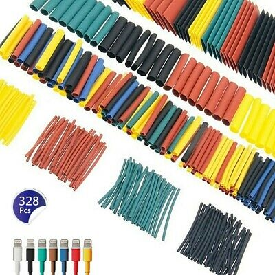 328pcs 21 Heat Shrink Tubing Kit 5 Colors 8 Sizes Assorted Sleeving Wrap Wires