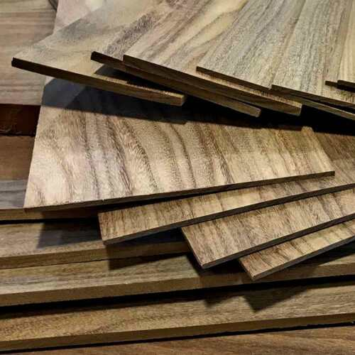 "BLACK WALNUT 1/4"" x 8"" x 12"" Thin Wood Lumber Board Scroll Craft Pack of 5 or 10"