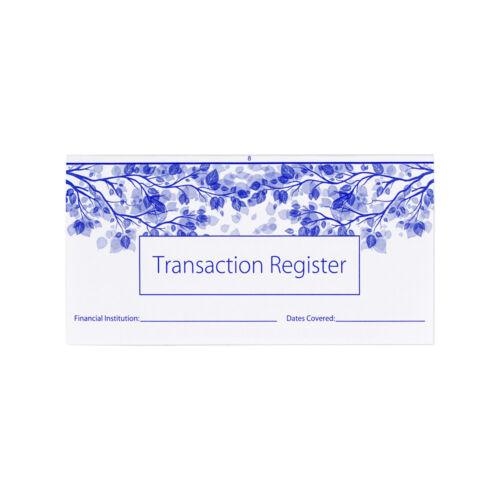 10 Transaction Checkbook Registers