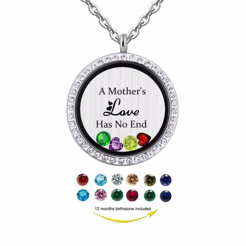 Mothers+Love+Floating+Locket+Necklace+Keepsake+Xmas+Gifts+For+Her+Mum+Wife+Women