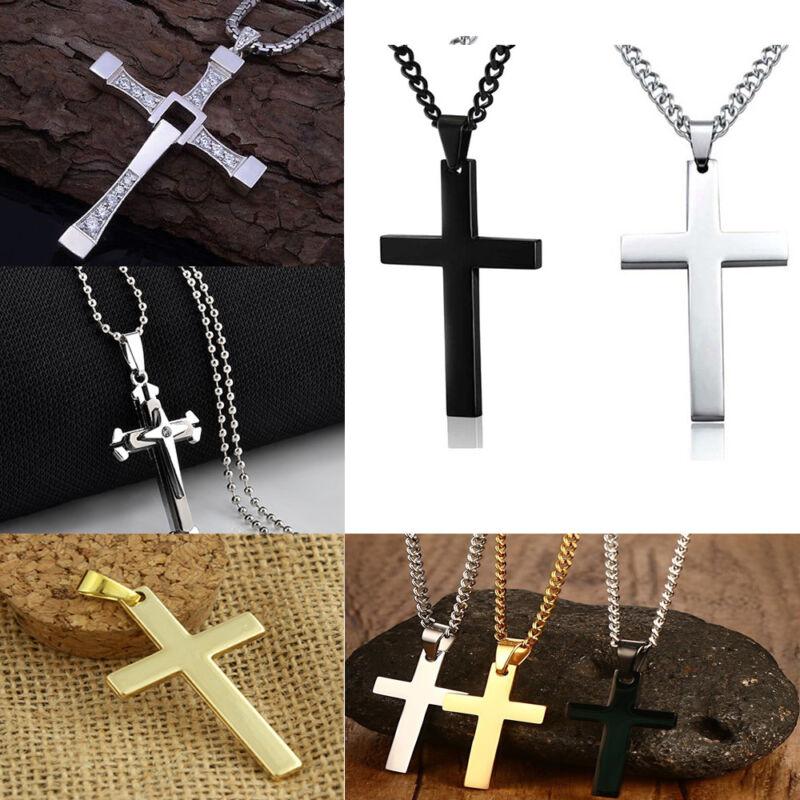 Unisex's Men Stainless Steel Cross Chain Fashion Jewelry