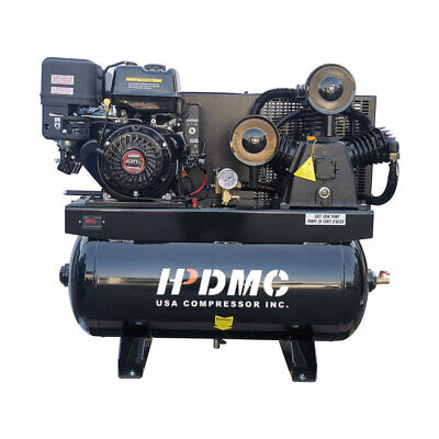 13hp Portable Gas-powered Air Compressor 420cc Engine 30gal Tank 180psi 24cfm