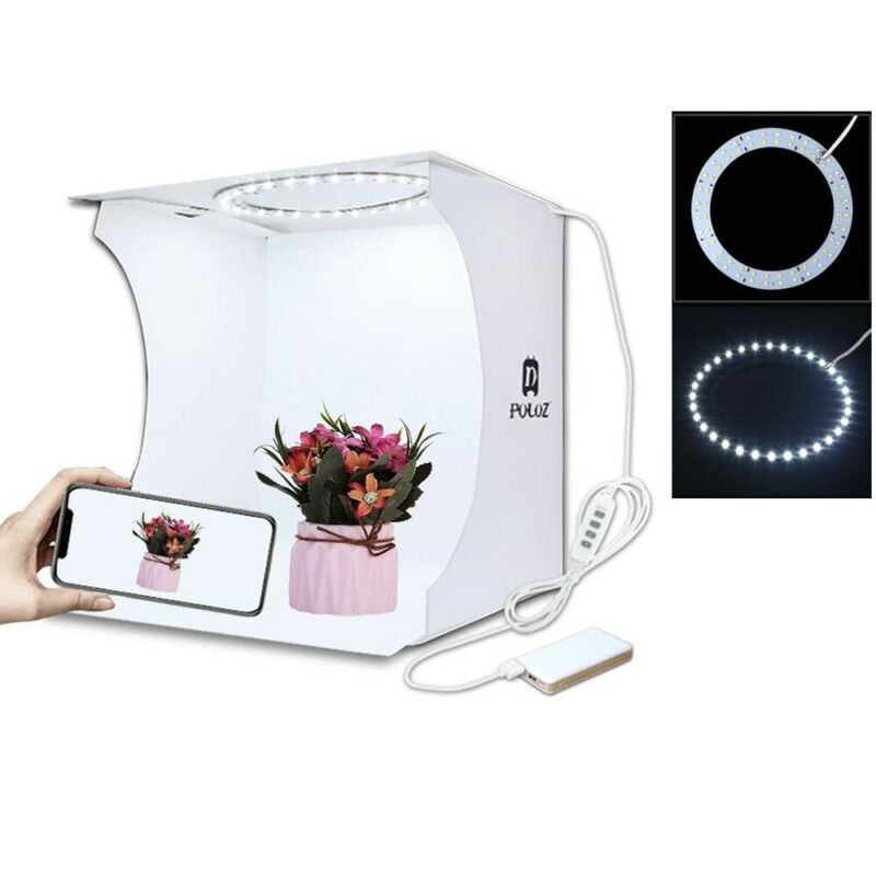 Mini Ring Lightbox Folding Portable Photo Studio Box Photogr