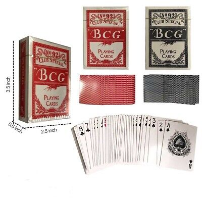 Lot of 12 Playing Cards Bulk Plastic Poker Size Decks Professional Games US