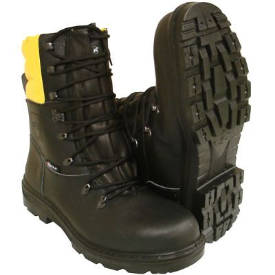 Chainsaw Forestry Boots Black And Yellow Aborist COFRA Class 1 Size 9 Euro 43