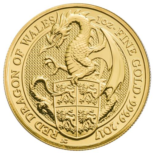 Купить 2017 U.K. 100 Pound 1 oz Gold Queen's Beast BU The Dragon