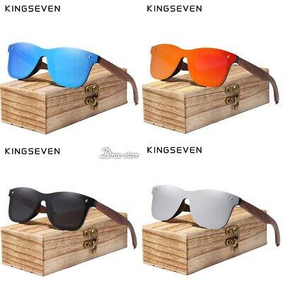 KINGSEVEN Natural Wooden Sunglasses Men Polarized Fashion Original Sun (Naturalizer Sunglasses)