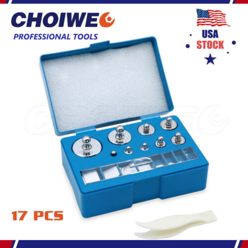 Precision Steel Calibration Weight Kit Set with Tweezers for Balance Scale