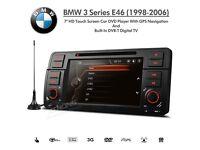 "BMW 3 Series E46 7"" HD Touch Screen Car DVD Player USB GPS Navigation Built-in DVB-T Digital TV for"