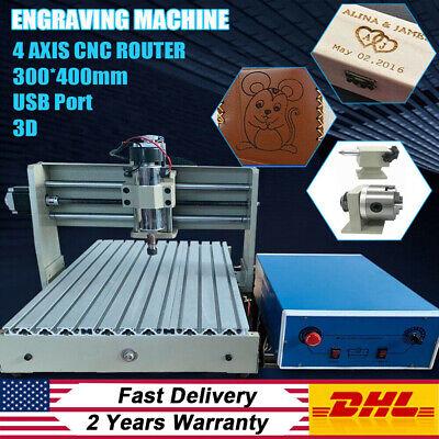 Usb 4axis Cnc 3040t Router 400w Engraving Milling Machine Wood Pcb 3d Cutting Eu