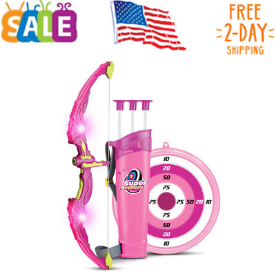 Liberty Imports Light Up Princess Archery Bow and Arrow Toy