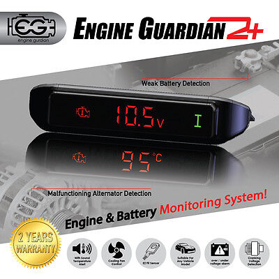 ENGINE GUARDIAN EG2+ WATCHDOG COOLING FAN CONTROL PROGRAMABLE RELAY VOLT METER Fan Controller Program