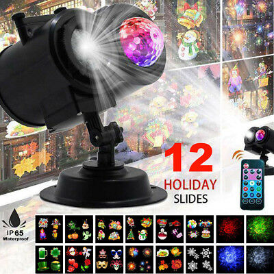 Dual Projector Laser Waterproof Xmas Halloween Outdoor Garden Landscape LED Lamp