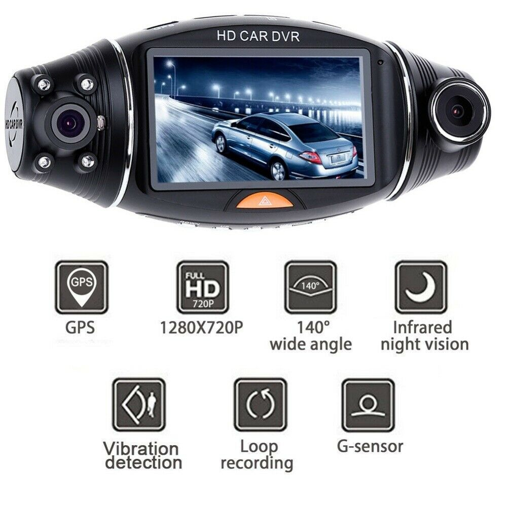 HD 4K Autokamera Dashcam Schwerkraftsensor GPS 140° Weitwinkel Video Recorder EU