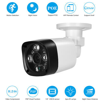 1080P HD POE IP Kamera 2MP 4mm 1/3