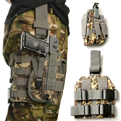 Outdoor Tactical MOLLE Drop Leg Platform Panel W/ Holster ACU Camouflage