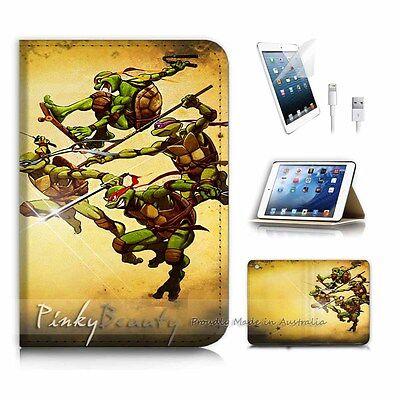 ( For iPad mini Gen 1 2 3 ) Flip Case Cover P3268 Ninja Turtle TMNT