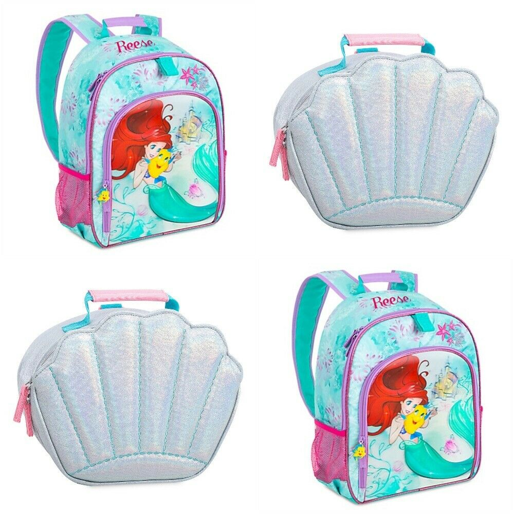 Disney Store Ariel Backpack Lunch Tote Shell Little Mermaid