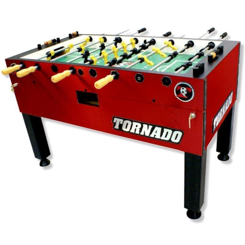 Tornado T-3000 Foosball Table In Crimson Red Non-Coin Home Model
